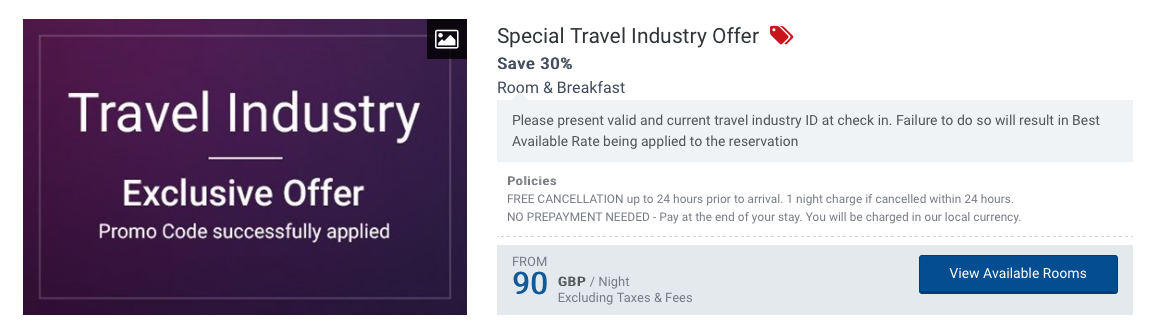 Hotel Deals Archives - Travel Industry Discounts